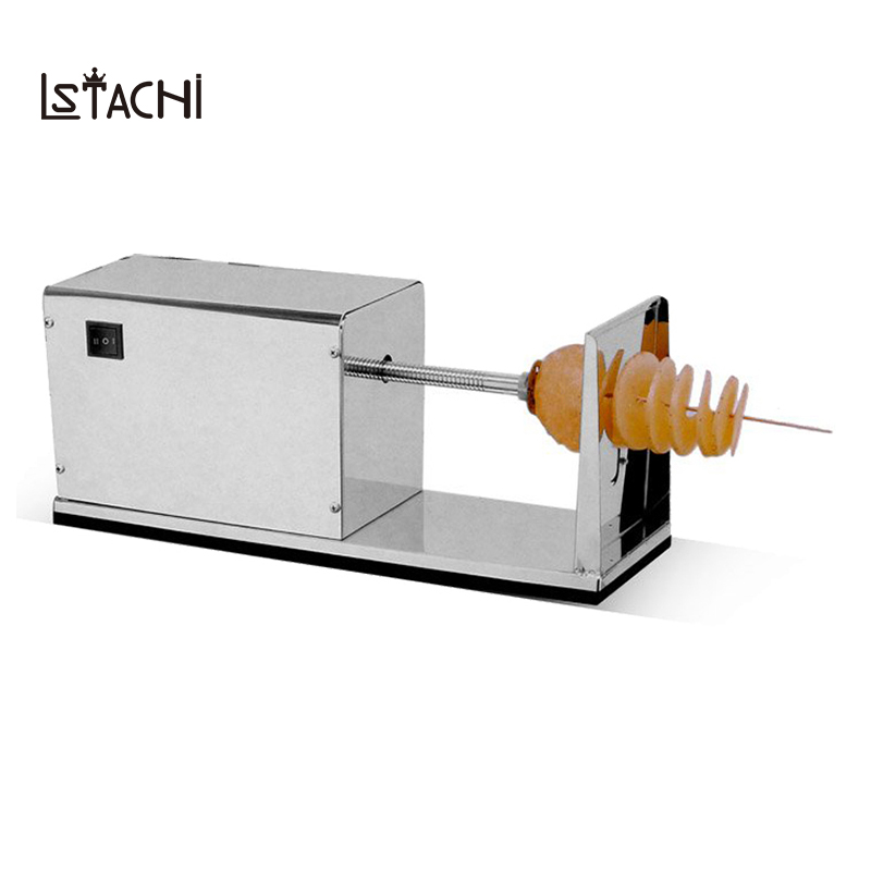 LSTACHi Commercial Stainless Steel Electric Twisted Potato Slicer Machine French Fry Vegetable Cutter Vegetable Spiral Slicer