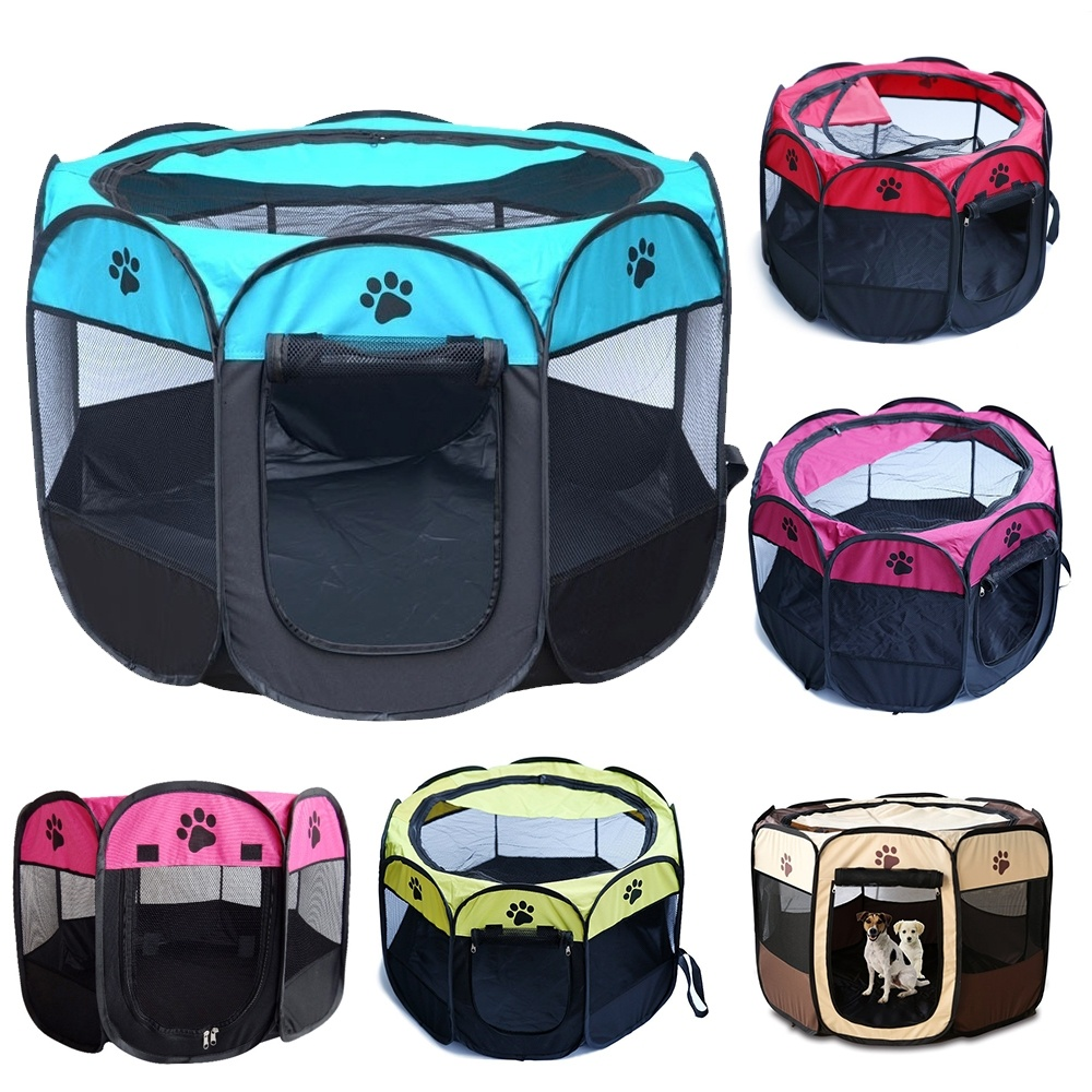 Portable Pregnancy Pet <font><b>Dog</b></font> Tent House Cage Crate Room Puppy Cat <font><b>Dog</b></font> Fence Net <font><b>Kennel</b></font> Foldable Playpen Outdoor Mesh Shade <font><b>Cover</b></font> image