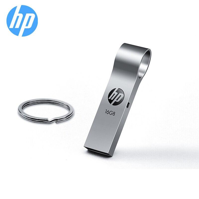 Disque Flash d'origine HP 16 gb 32 gb 64 gb clé USB en métal clé USB V285W disque sur porte-clés logo bricolage cadeau mémoire Stick livraison gratuite