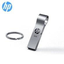 Orijinal HP Flash Disk 16gb 32gb 64gb Pendrive Metal USB Flash sürücü V285W Disk anahtarlık DIY LOGO hediye Memory Stick Freeship