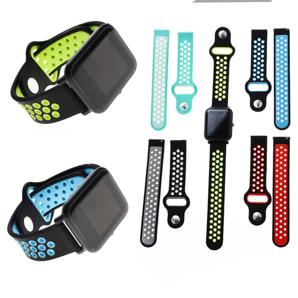 20mm universal Silicone Watch Band for Xiaomi Huami Amazfit Bip TICWATCH2 Gear Sport WELOOP