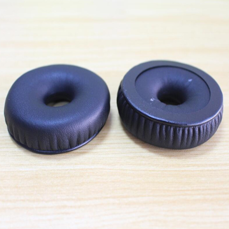 Linhuipad 1 paire coussin d'oreille de remplacement 58mm coussin d'oreille en cuir pour télex airman 850 casques d'aviation