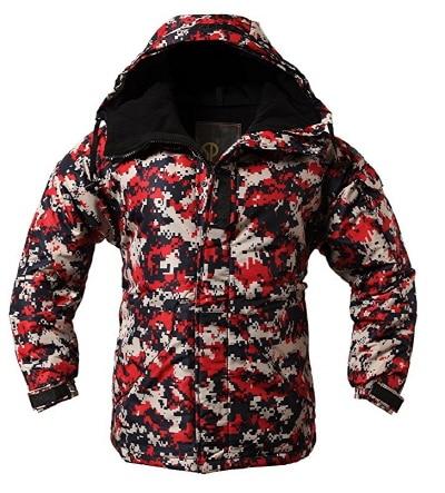 """Премиум """"SouthPlay"""" Зимний Сезон Водонепроницаемый 10000 мм согревающие лыжные и сноубордические коричневые Camoflage куртки - Цвет: Red Camo Jacket"""
