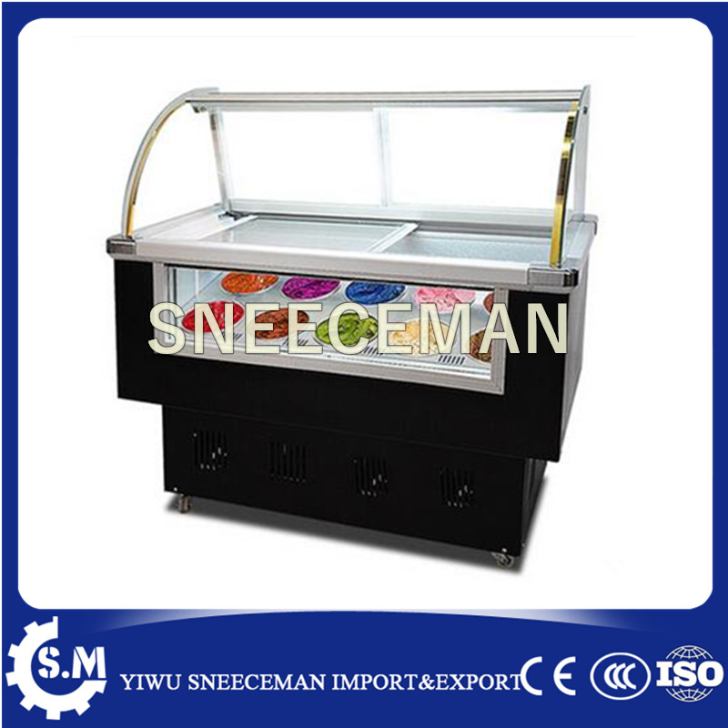 Ice Cream Display Cabinet Display Showcase Freezer Display