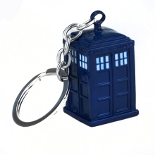 SG Doctor Who Keychains Dalek Tardis Police Box Key Chains Pendant Dr Blue House Keyring For Men Women Jewelry Accessories