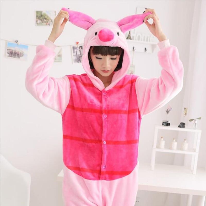 Animal Anime Piglet Adult Unisex Pajamas Cosplay  Onesie Party Pajama Halloween Costumes Christmas Gifts Winter Sleepwear S-XL