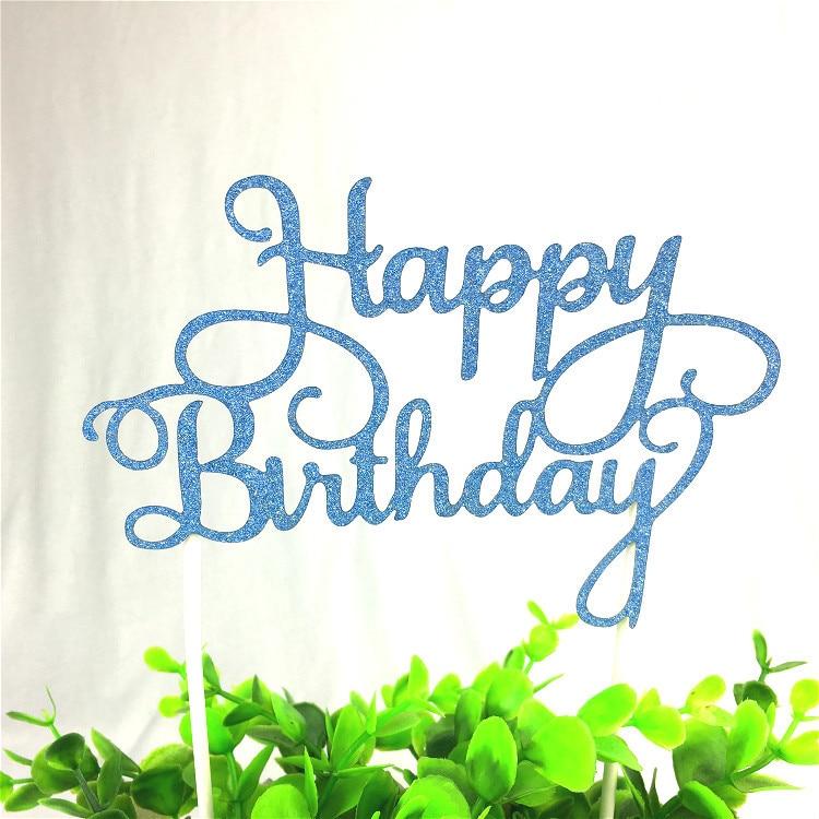 1pc Alles Gute zum Geburtstag Cake Topper Multi Farben Kuchen Flagge - Partyartikel und Dekoration - Foto 4