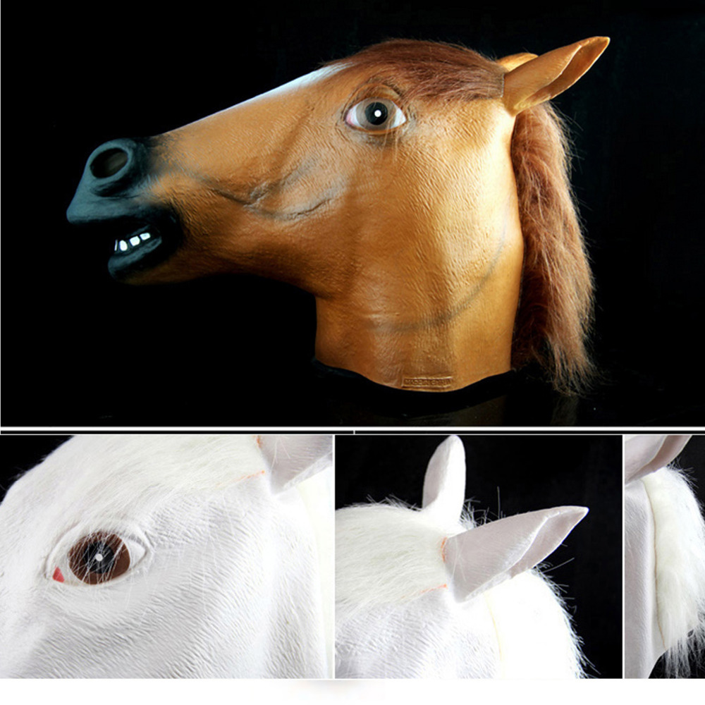 Aliexpress.com : Buy Latex Horse Head Mask for Halloween Carnival ...