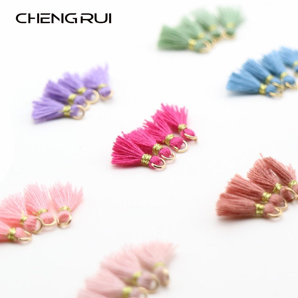 12Pcs Colorful Tassel Charms Pendants for Bags Key Chains DIY 5.5cm