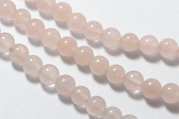 2017 perles de pierre de quartz z Rose semi-précieuses haut à la mode en 6mm rondes 15.5