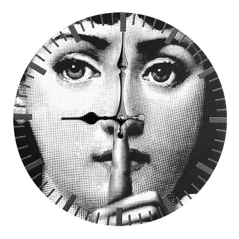 Fornazetti деревянные часы Lina Кавальери настенные декоративные подвесные часы белый и черный домашний бар отель украшение настенные часы