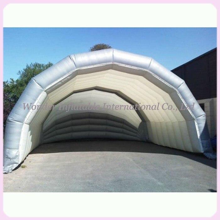 Vroča razprodaja 10 m srebrno napihljivo odrsko pokrivalo šotor velikanski oder zračna streha zunanje zavetišče za koncert ali prireditev
