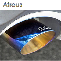 New High Quality Stainless Steel Car Automobile Exhaust Tip Tail Pipe Muffler For MAZDA CX 5