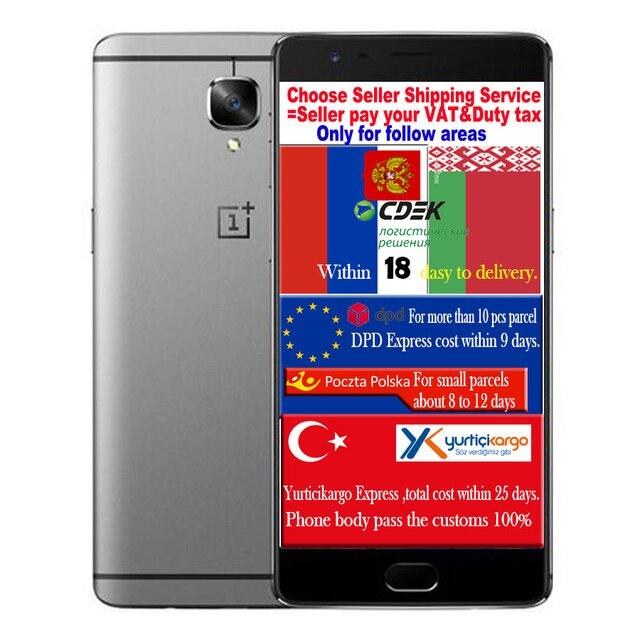Оригинал Oneplus 3 Т 3 Т Qualcomm Snapdragon 821 CPU 6 Г RAM 128 Г ROM Мобильный Телефон 5.5 inch 1920*1080 16.0 М CAM 3400 мАч Батареи мобильный