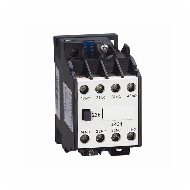 AC Motor Contactor Relay Starter Ui 660V 2NC+2NO 4 Pole 110V 220V 380V 50Hz Coil Volt Ith 10A JZC1-22 DIN Rail Mount Contactor