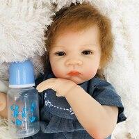 Realistic Reborn Baby Doll Soft Silicone Stuffed Lifelike newborn bebe doll reborn toys For Kids Birthday Christmas Gifts 50cm