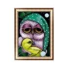 Owl DIY 5D Diamond Painting Full Drill Cross Stitch Embroidery Craft Home Decor #Aug.29