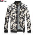 HCXY brand clothing 2016 Korean Men's jackets spring and autumn male coat masculine outwear slim fit zipper floral print cotton
