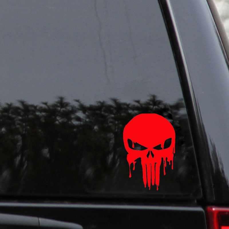10,1 см X 15 см кровавый Каратель Череп персонализированные виниловые наклейки на машину декоративные наклейки красный/черный/серебристый C1-5007