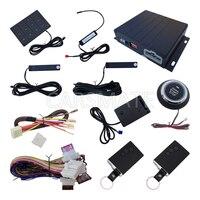 מערכת אזעקת PKE רכב עם דחיפת Start Stop כפתור הלם חיישן, כניסת Keyless פסיבית, מנוע מרחוק להתחיל, נעילה אוטומטית דלת מכונית