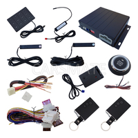 PKE Car Alarm System With Shock Sensor Push Start Stop Button Passive Keyless Entry Remote Engine