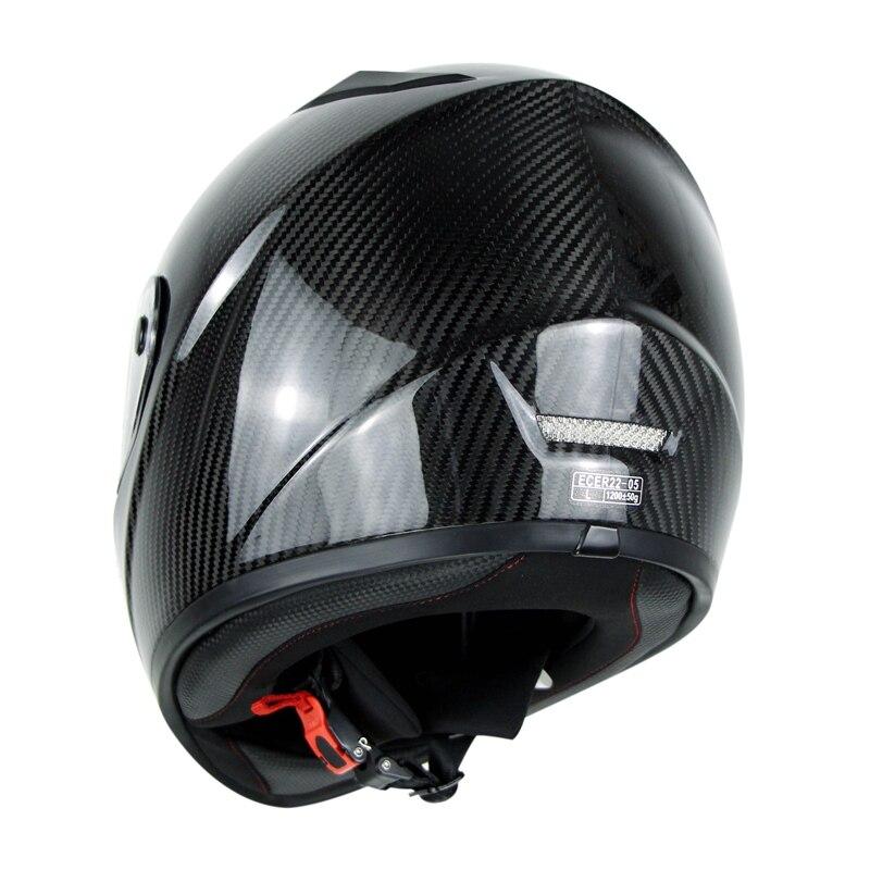 3K Carbonfiber Motosiklet Tam Üz Dəbilqəsi Motorbike Steet Racing - Motosiklet aksesuarları və ehtiyat hissələri - Fotoqrafiya 5
