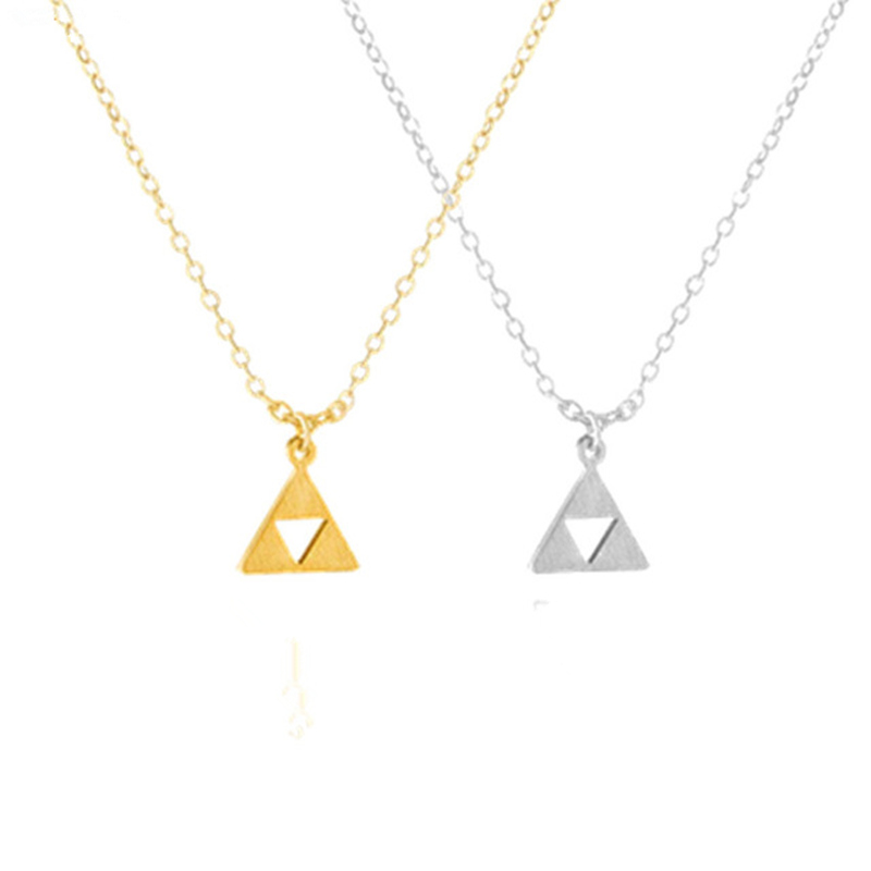 Game Jewelry Triforce The Legend of Zelda Pendant Necklace for Women Men Stainless steel Chain Triangle Charms Chokers Collares