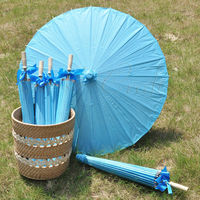 [ Fly Eagle ]30pcs/lot Blue 84CM Parasol Paper Umbrella Wedding Party Decoration Shower Decor