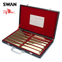 Лебедь sw24 12tj золото Цвет 24 Отверстия 12 клавиш гармоники набор в подарочной коробке Профессиональное исполнение духовых Музыкальные инстру