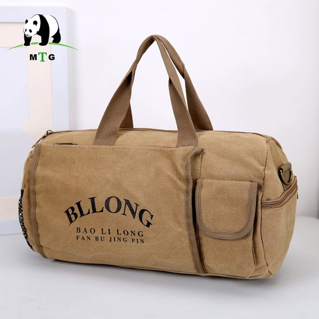 Women Men Canvas Duffle Bag Leisure Waterproof Travel Carry On Business Trip Luggage Large Weekend