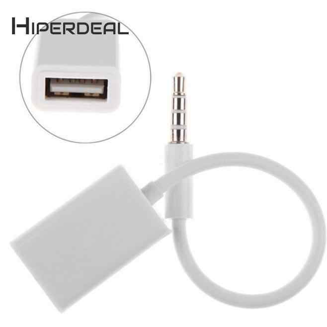 HIPERDEAL 3.5 مللي متر الذكور AUX وصلات صوت جاك إلى USB 2.0 الإناث محول كابل الحبل سيارة MP3 الذكية اكسسوارات BAY13