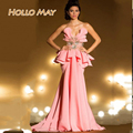 Sexy Pink Long  Special Occasion Evening  Dresses 2016 New Arrival Dresses Party Formal  Gown Sweetheart Robe De Soiree