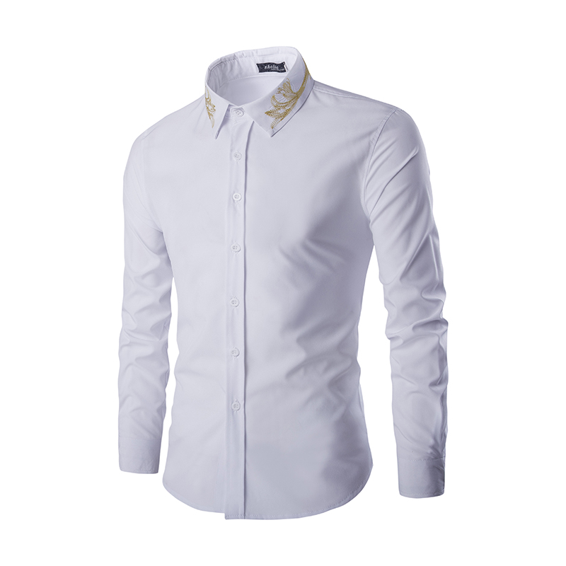 White And Gold Mens Shirt Is Shirt