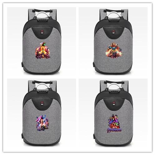 Heros Avengers  backpack schoolbag for Teenagers Boys Girls men Shoulder with coded lock Travel Mochila Bags