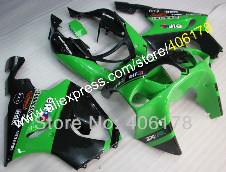 Горячие продаж,пользовательские популярные ZX7R 96-03 тело ABS обтекатель Комплект для Kawasaki ZX7R 1996-2003 частей зеленый мотоцикл руль Обтекатели