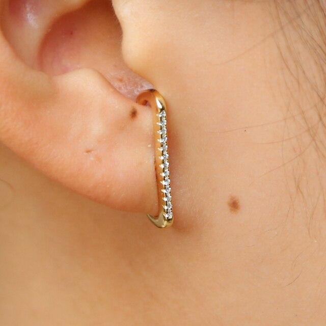 dcbbe012f TOP Botton cz bar stud arrond ear design european women multi piercing  delicate minimal jewelry 925 sterling silver bar earring