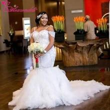 Alexzendra Beads Applique Mermaid Wedding Dress