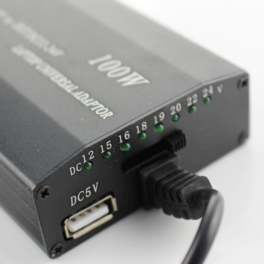 100w multifunktionell bärbar dator AC likströmskort bil laddare - Laptop-tillbehör - Foto 4
