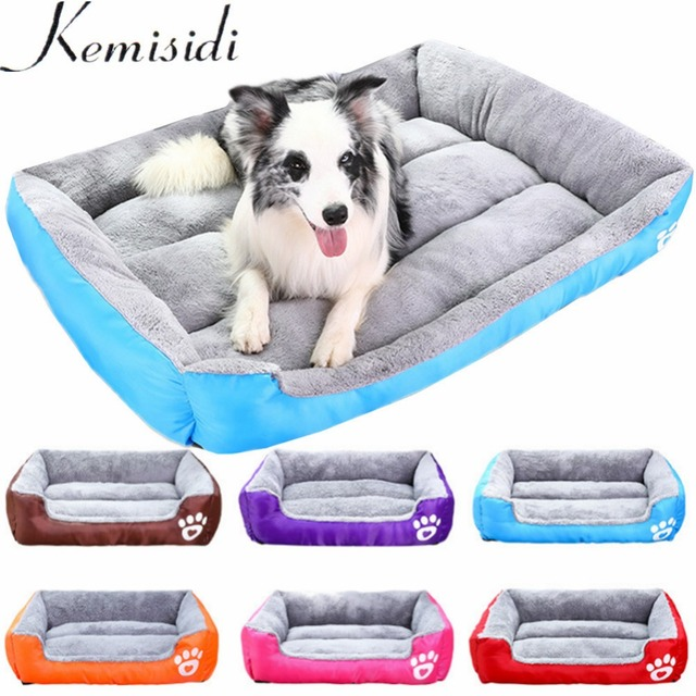 KEMISIDI Pet Dog Bed Mat Warming Dog House Soft Material Nest Dog Baskets Fall and Winter Warm Kennel For Cat Puppy Large Pets