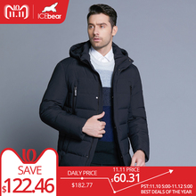 ICEbear 2018 new winter men s jacket with high quality fabric detachable hat for male s