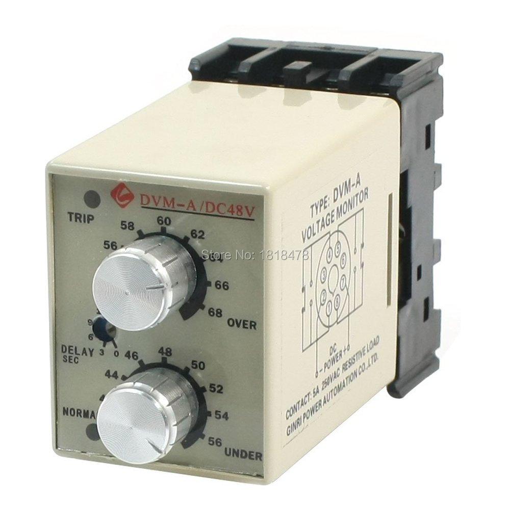 DVM-A/48V DC 48V 12V 24V Adjustable Over/Under Voltage Monitoring Relay phantom dvm 3019g is blue по навител