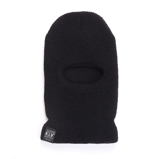 Full Face Cover 3 Holes Balaclava Knit Hat Winter Stretch Snow Mask Beanie Hat Cap Windproof Warm Breathable Masks for Riding 3