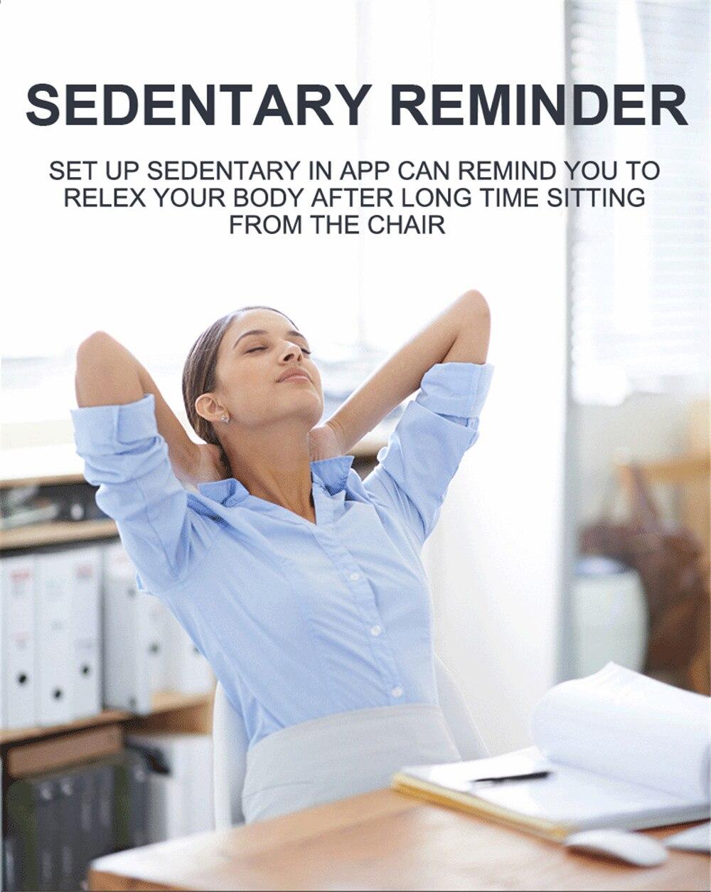 senhora mulher freqüência cardíaca monitor sono banda