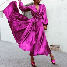 2019 Summer Women Long Maxi Dress Casual Boho Beach Sleeve Bandage Party Vestidos
