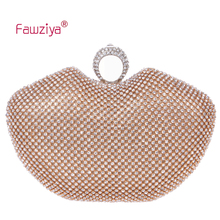 Fawziya Women Clutch Apple Shape Ring Clutch Purse Bling Rhinestone Crystal Clutch Bag