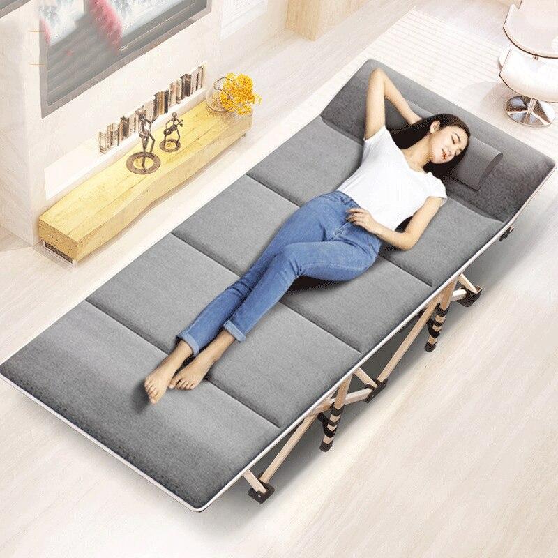 Nouveau Pliant Lit Hiver/Été Sieste Canapé Inclinable Chaise De Pêche Plage Coussin Housse De Matelas Lit de Pose Sieste Chaise longue
