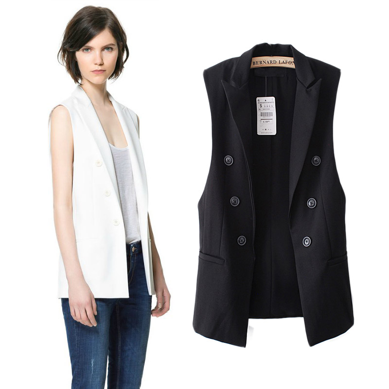 Star Same Style Double Breasted Middle Long Suit Vest ...