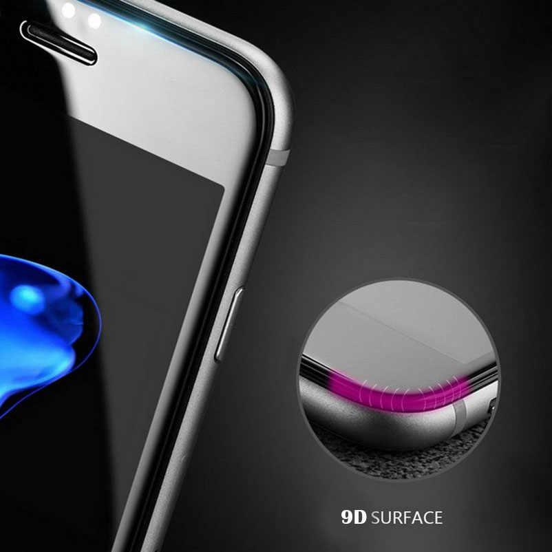 9D Cạnh Cong Tấm Bảo Vệ Màn Hình Kính Cường Lực Cho Xiaomi Redmi Note 4X 5A S2 5 Plus Y1 Lite A1 Mi 8 6 6X 5X Bao Bọc Toàn Bộ Phim 11D