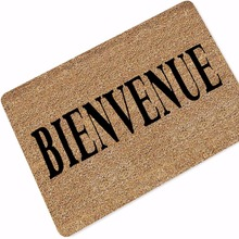 Bienvenue Bonjour Printed Rubber Anti Slip Doormats Door Entry Front Mats Tapete Outdoor Entrance Indoor Welcome Home Funny