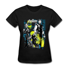 Avengers T Shirt Tops Women 100% Cotton Soft Fabric Fashion Hottedt Top T-shirts Infinity War Heroes Printing T Shirts Graphic